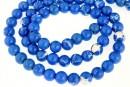 Howlite, syntethic, round, intense blue, 6mm