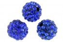Margele shamballa, cobalt blue, 10mm - x2