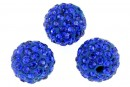 Margele shamballa, cobalt blue, 12mm - x2