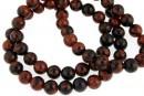 Mahogany obsidian, round, 6.5mm