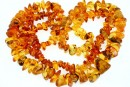 Baltic amber, necklace free form, 10-15mm