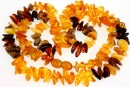 Baltic amber, necklace free form, 12-14mm