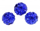 Margele shamballa, cobalt blue, 6mm - x2