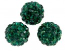 Margele shamballa, emerald, 8mm - x2