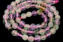 Mix white, pink quartz, prehnite, amethyst, citrine, microfaceted round, 6mm