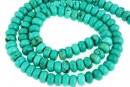 Turquoise, natural stone, rondelle, 6mm