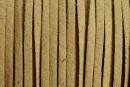 Snur faux suede, maro natur, 3mm - x5m