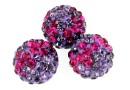 Margele shamballa, fuchsia - amethyst, 10mm - x2