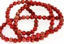 Sediment jasper, red, round, 4.5mm