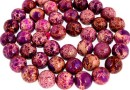 Sediment jasper, purple-fuchsia, round, 9mm