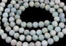 Natural aquamarine, round, 4.5mm