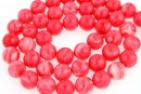 Synthetic resin, rhodocrozite imitation, round, 8mm