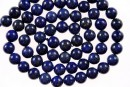 Natural lapis lazuli, round, 5mm