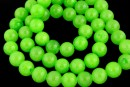 Jade, round, green neon, 8mm