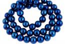 Cobalt blue hemalyke (hematit), round, 8mm