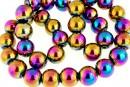 Multicolor hemalyke (hematit), round, 12mm