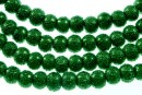 Perle sticla efect, verde, 4mm - x226