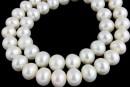 Perle de cultura - 9-10x8.5-9mm, alb