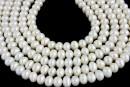 Perle de cultura - 6.5-7mm, alb
