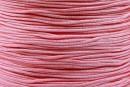 Snur matase cu guta, pentru bratari, roz, 1mm - x5m