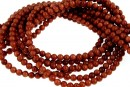 Brown goldstone, round, 3mm