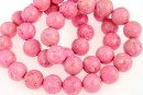 Pink chrysocolla, round, 10mm