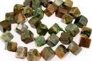 Rhyolite, cube, 12x8mm