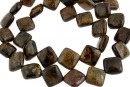 Bronzite, flat square, 11.5mm
