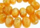Orange calcite, rondelle, 30x20mm
