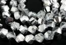 Margele cristal, helix, argintiu AB, 8mm