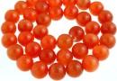 Margele ochi de pisica, rotund, portocaliu, 10mm