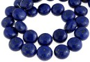 Natural turquoise stone, blue lapis, flat disc, 12mm