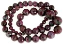 Ruby in zoisite, natural stone, faceted round, 5-14mm
