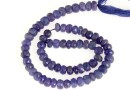 Tanzanite, natural stone, faceted rondelle , 5.5-6mm