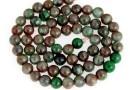Natural green garnet, round, 6-6.5mm