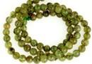Natural olive grossular garnet, round, 5.2mm