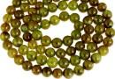 Natural olive grossular garnet, round, 8.5mm