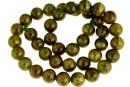 Natural olive grossular garnet, round, 10mm