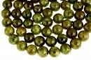 Natural olive grossular garnet, round, 11mm