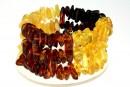 Bratara cu margele chihlimbar natural, chips, 11-13mm