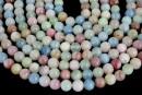 Multicolor morganite, round, 5.7-6.3mm