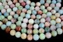 Morganite multicolor, natural A grade, round, 7-8-8.2mm