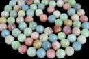 Multicolor morganite, natural A grade, round, 10mm