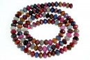 Multi sapphire and ruby, natural stone, faceted rondelle, 5-5.3mm