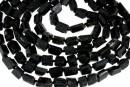 Black tourmaline rough stone, free form, 13-16mm
