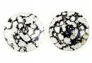 Swarovski, pandantiv rivoli, black patina, 12mm - x2