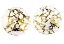 Swarovski, pandantiv rivoli, gold patina, 12mm - x2