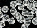 Swarovski, margele bicone, crystal, 8mm - x10