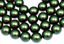 Perle Swarovski, scarabaeus green, 14mm - x2