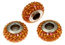 Swarovski, becharmed pave astral pink shining curry, 13.5mm - x1